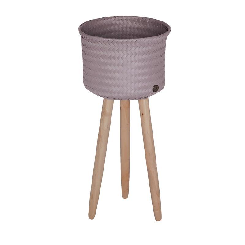 handed by korb up high mit holzf en mauve. Black Bedroom Furniture Sets. Home Design Ideas