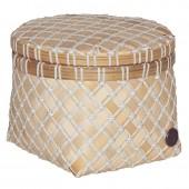 Handed by Korb Bamboo Mini, rund, klein - Weiß