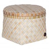 Handed by Korb Bamboo Mini, rund, mittel - Weiß