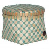 Handed by Korb Bamboo Mini, rund, klein - Steingrün