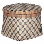 Handed by Korb Bamboo Mini, rund, klein - Dunkelgrau