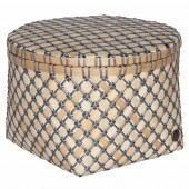 Handed by Korb Bamboo Mini, rund, groß - Dunkelgrau